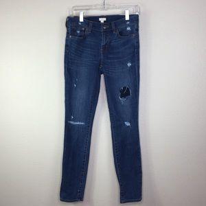 J Crew Skinny Jeans Size 26 Stretch Distressed